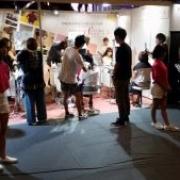 イメージアで東京ガールズコレクションにヘアメークブース出展しています!本日限定です!
